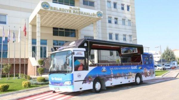 elazig belediyesi tur otobusu hizmette