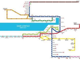 Estações e preços dos bilhetes de metro de Izmir - Saatleri