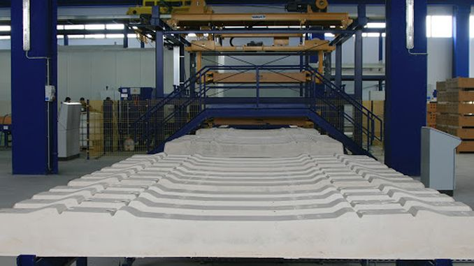Für die Ausschreibung wird Zement für die Herstellung von Betonschwellen gekauft.