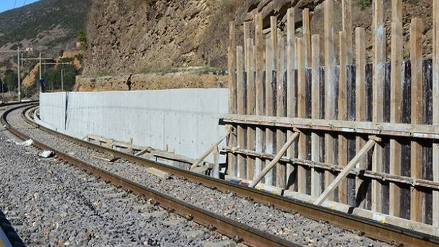 Retaining wall of tender announcement on malatya cetinkaya line