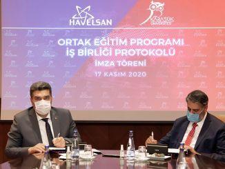 Protocolo de cooperação do programa de treinamento conjunto entre kbu e havelsan