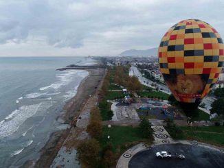exército inovou no mar negro com turismo de balão