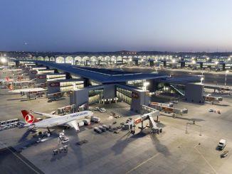mundo da aviação turca, o campo está pronto para ser um centro de trânsito